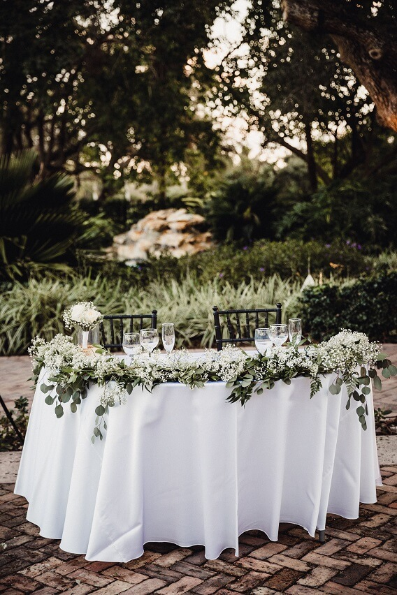 eucalyptus Sweetheart Table