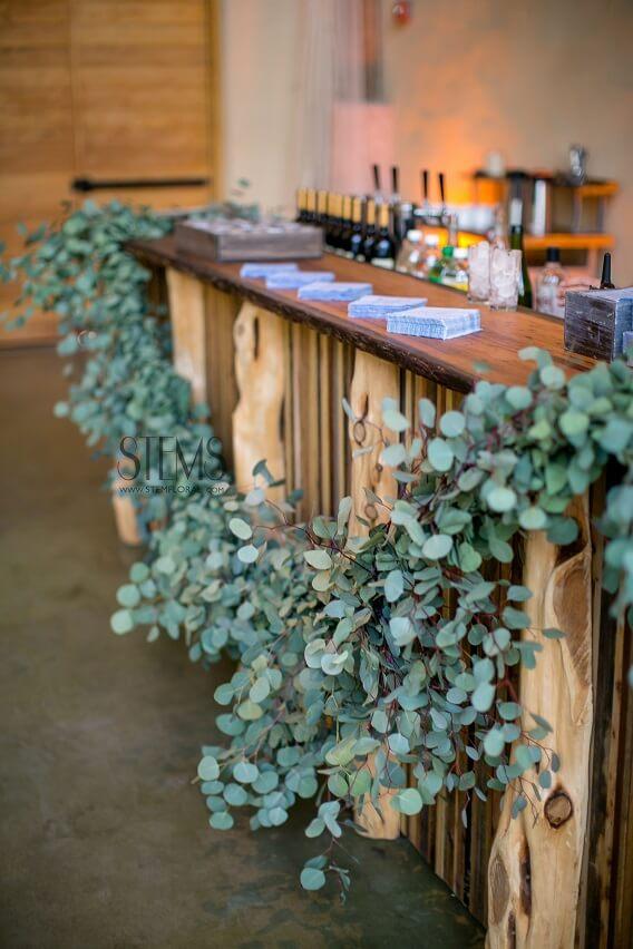 eucalyptus bar decor