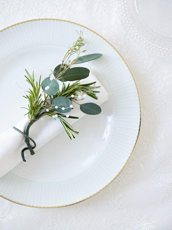 eucalyptus based napkin rings