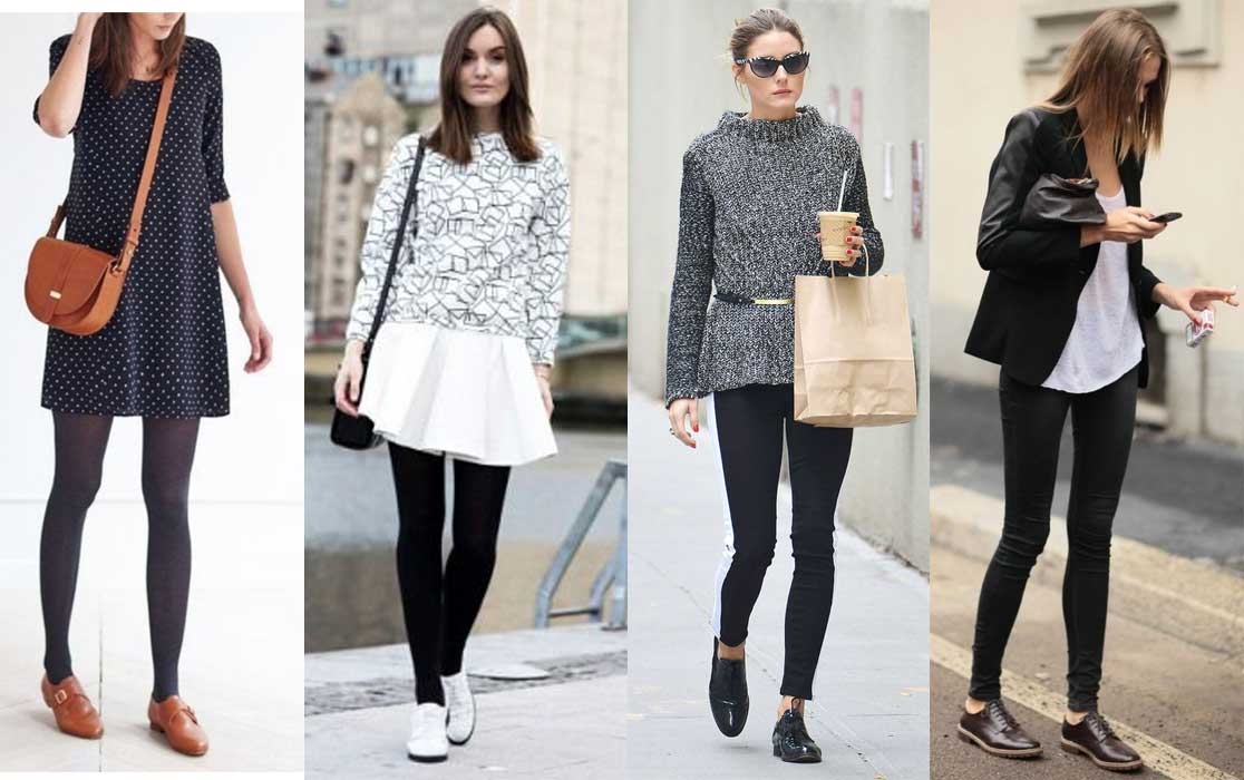 Leggings With Oxford Shoes