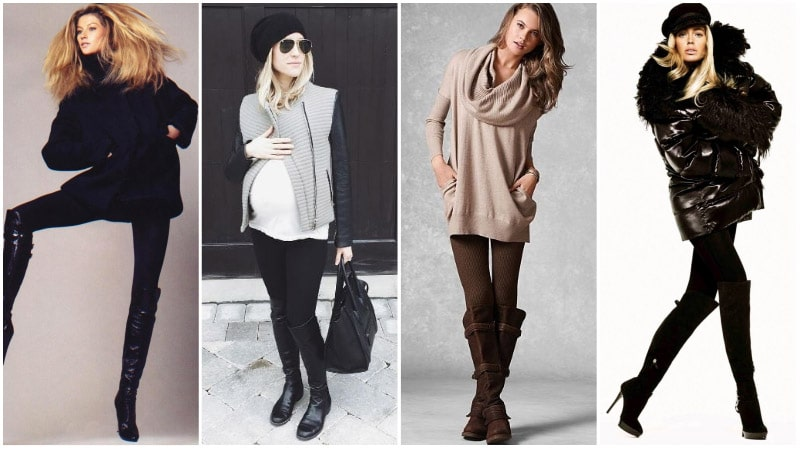 Leggings With Knee-High Boots